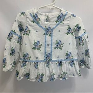 Janie and Jack Floral Blouse 12-18M
